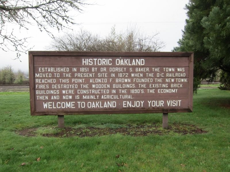 Historic Oakland Marker image. Click for full size.