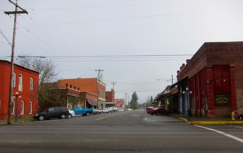Oakland - Looking East Up Locust Street from the Marker Site image. Click for full size.