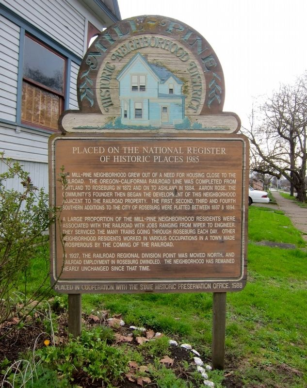 The Mill-Pine Historic Neighborhood District Marker image. Click for full size.