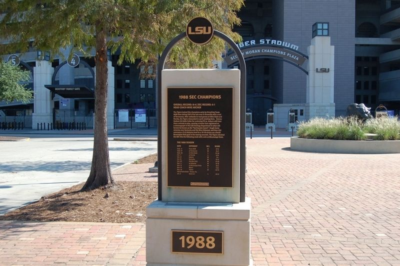 1988 SEC Champions Marker image. Click for full size.