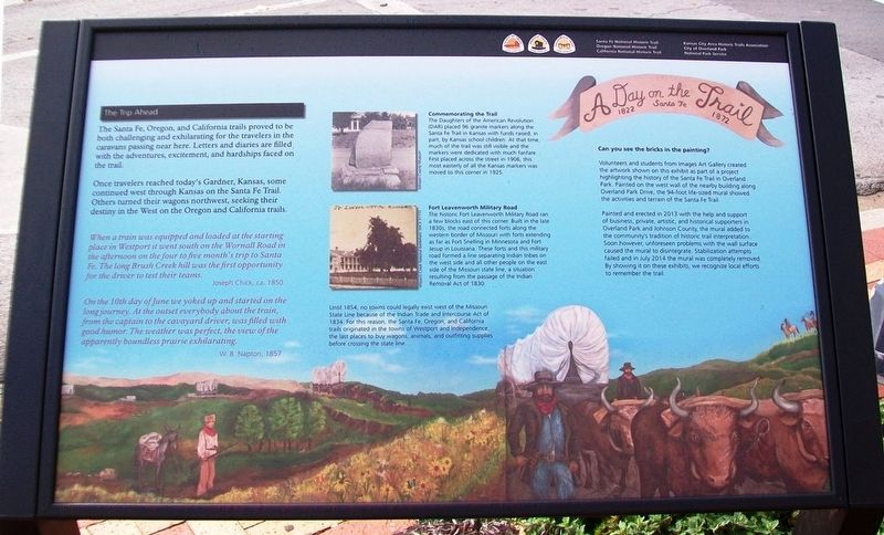 A Day on the Santa Fe Trail Marker image. Click for full size.