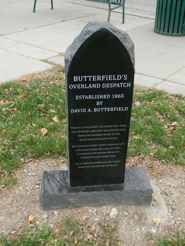Butterfield's Overland Dispatch Marker image. Click for full size.