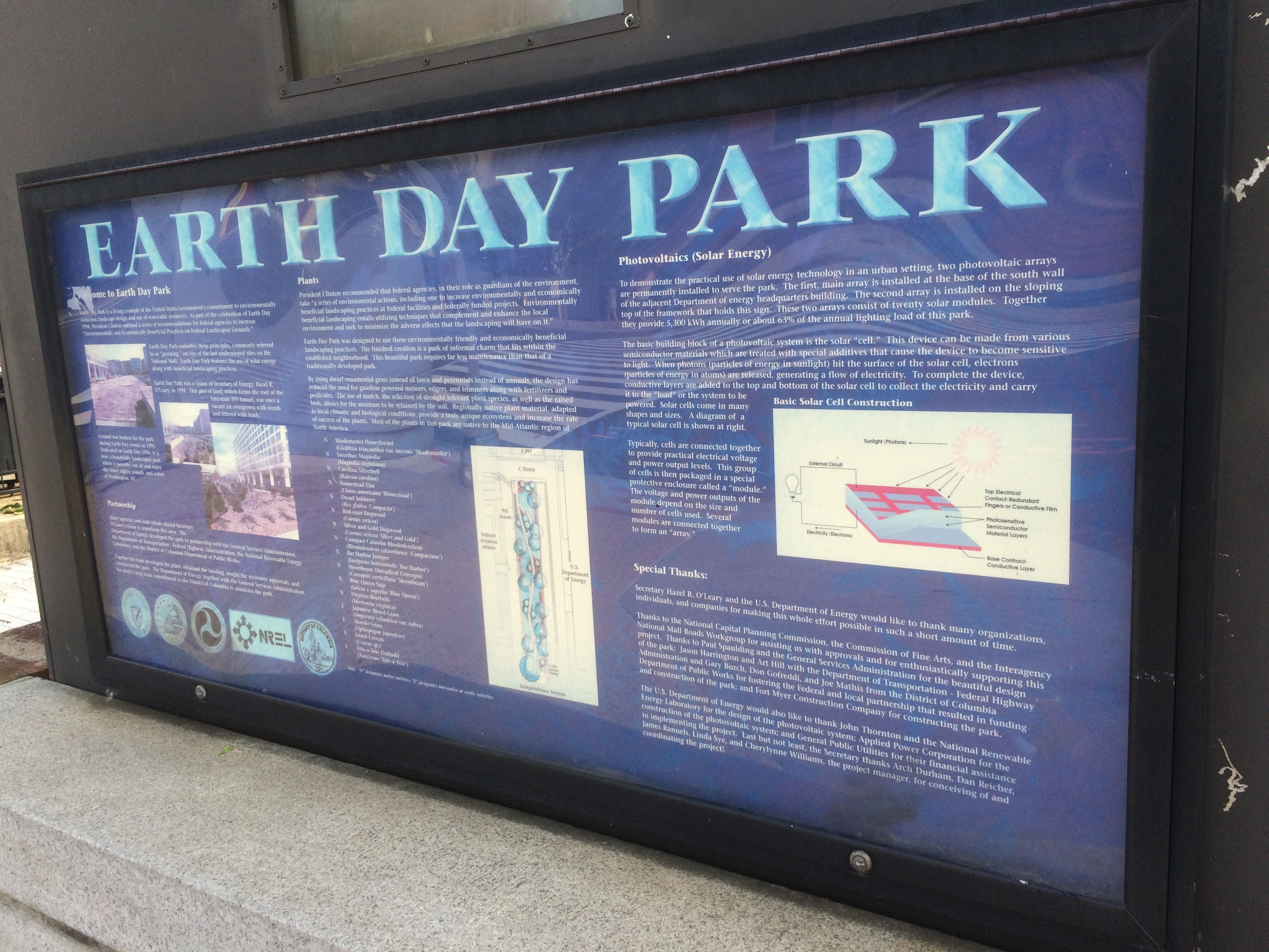 Earth Day Park Marker