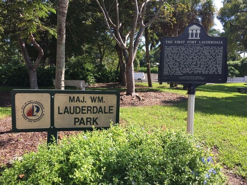 The First Fort Lauderdale Marker image. Click for full size.
