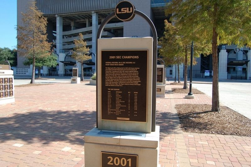 2001 SEC Champions Marker image. Click for full size.