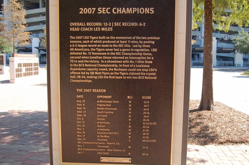 2007 SEC Champions Marker image. Click for full size.