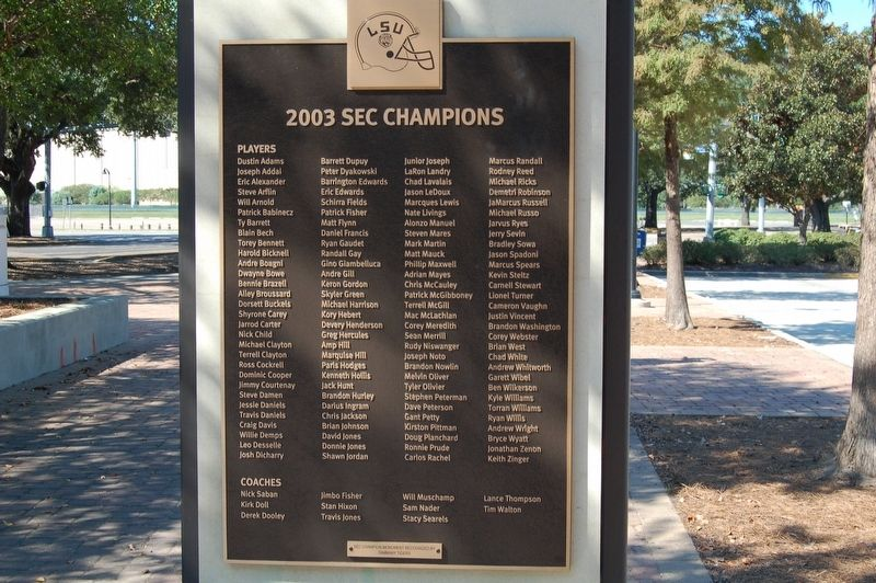 2003 SEC Champions Marker image. Click for full size.