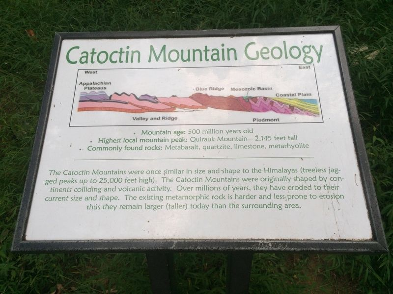 Catoctin Mountain Geology Marker image. Click for full size.