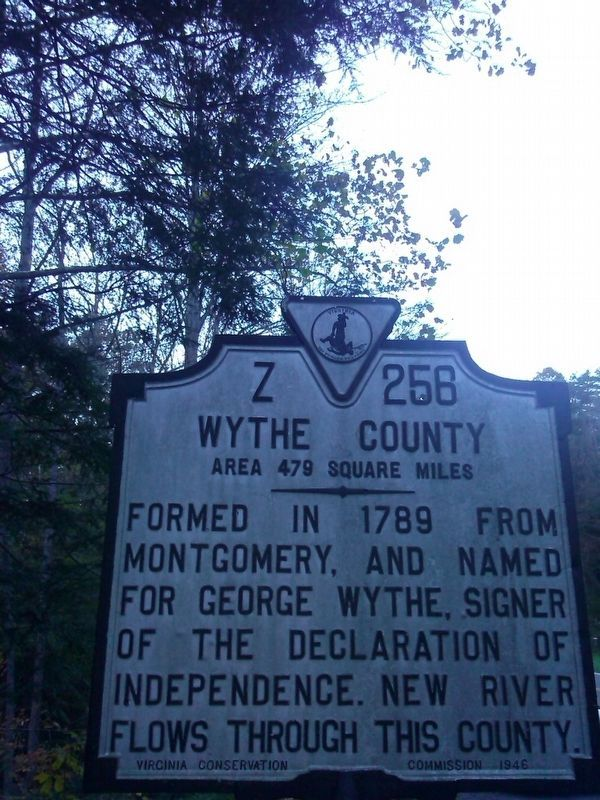 Wythe County/ Carroll County Marker image. Click for full size.