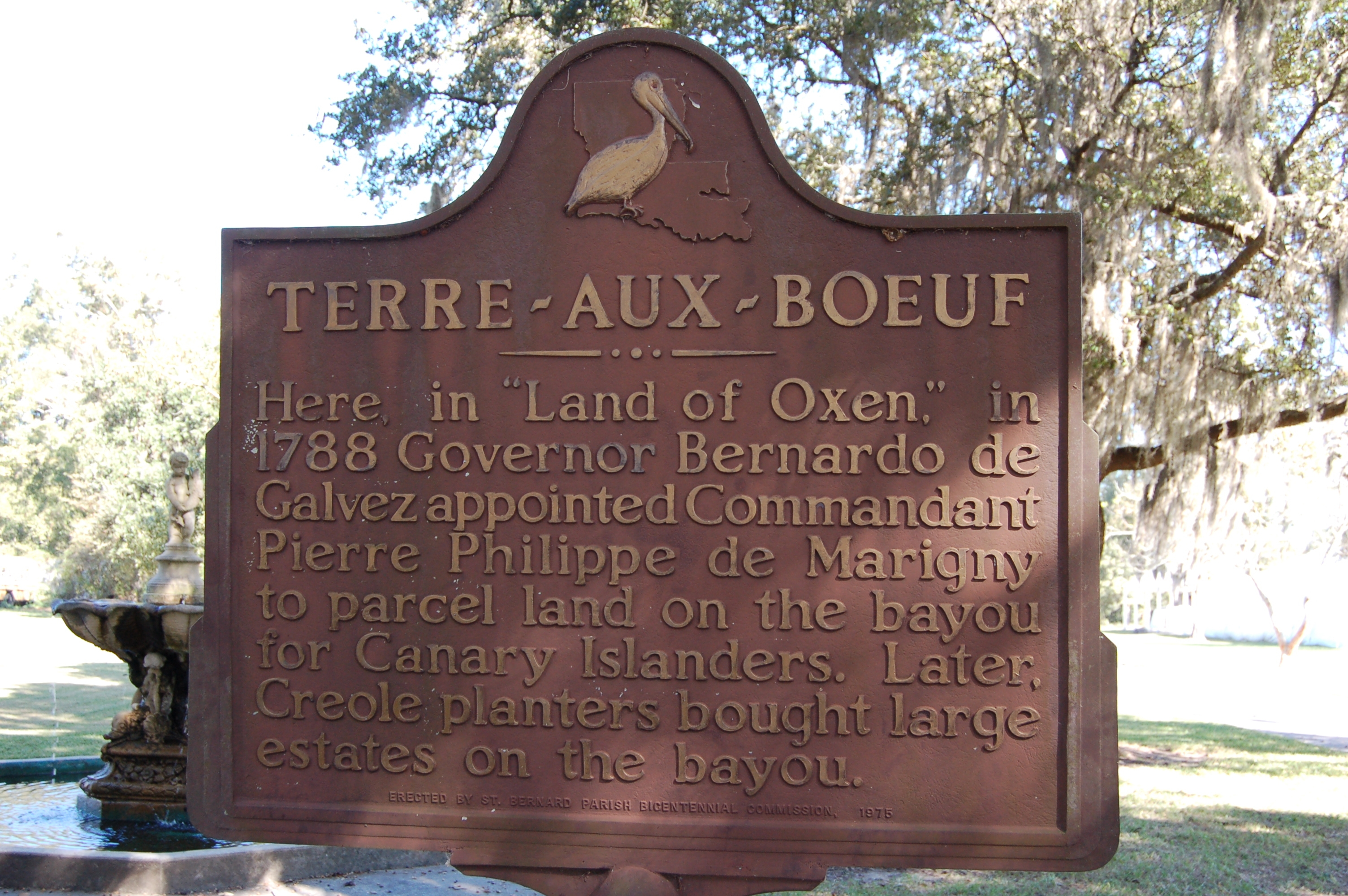 Terre-Aux-Boeuf Marker