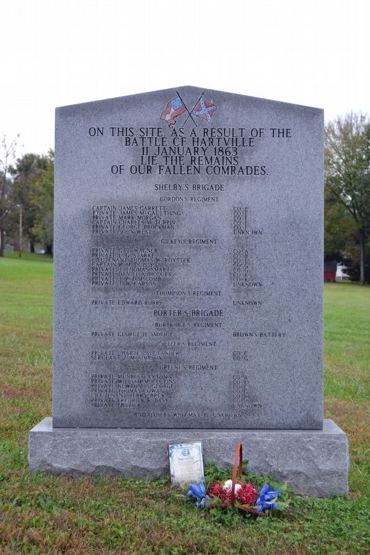 Battle of Hartville Confederate Monument image. Click for full size.