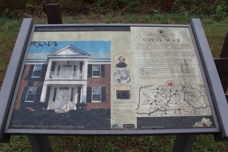 The Sanders Family inthe Civil War Marker image. Click for full size.