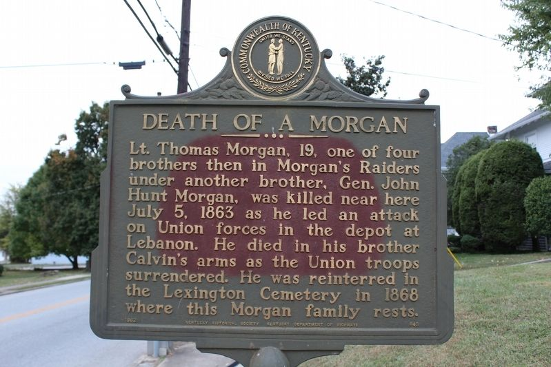 Death of a Morgan Marker image. Click for full size.