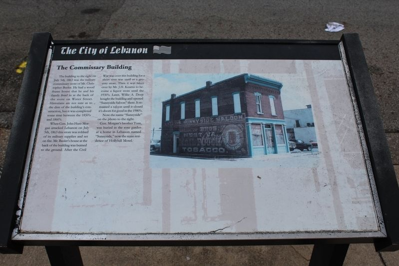 The Commissary Building Marker image. Click for full size.