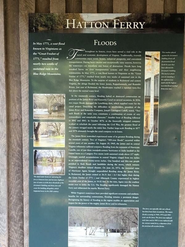 Hatton Ferry — Floods Marker image. Click for full size.