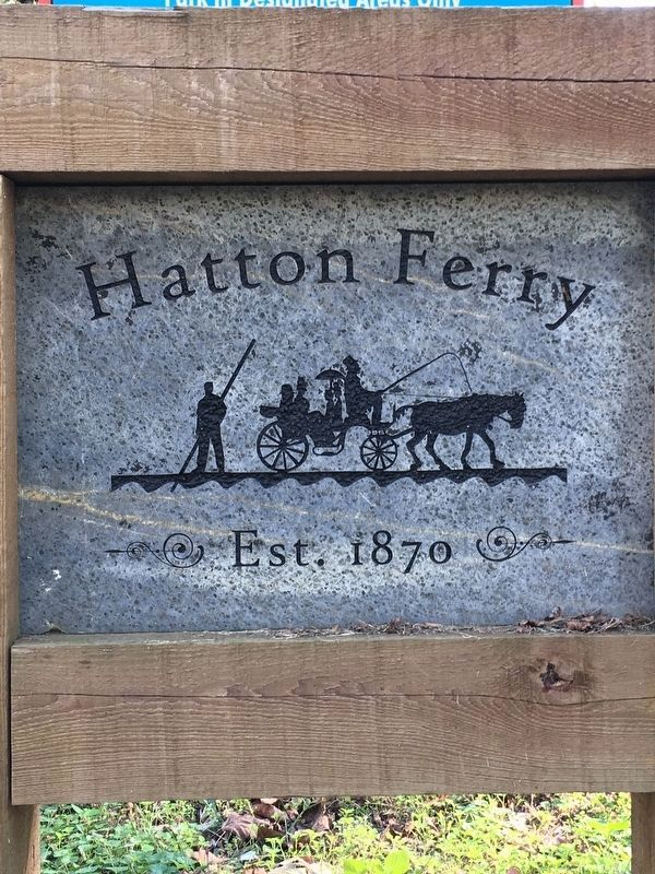 Hatton Ferry Sign image. Click for full size.