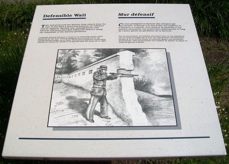 Defensible Wall / Mur défensif Marker image. Click for full size.