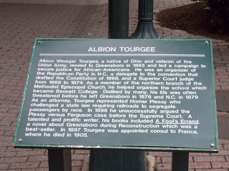 Albion Tourgee Marker image. Click for full size.