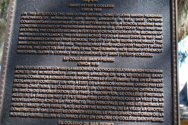 Saint Peter's College Marker image. Click for full size.