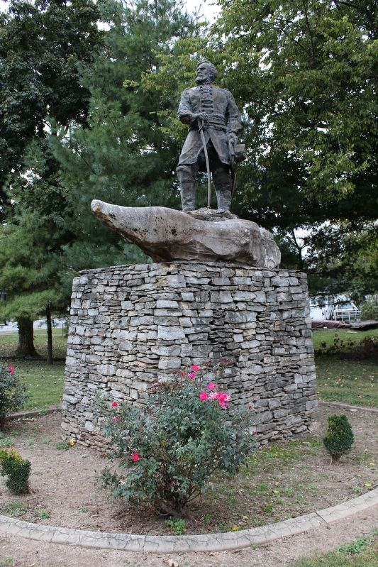 Major General George H. Thomas at Lebanon, Kentucky Statue image. Click for full size.