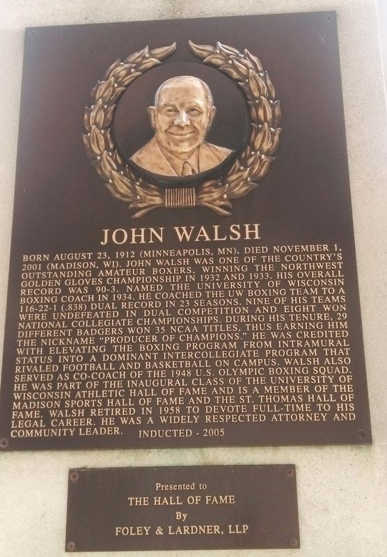 John Walsh Marker image. Click for full size.