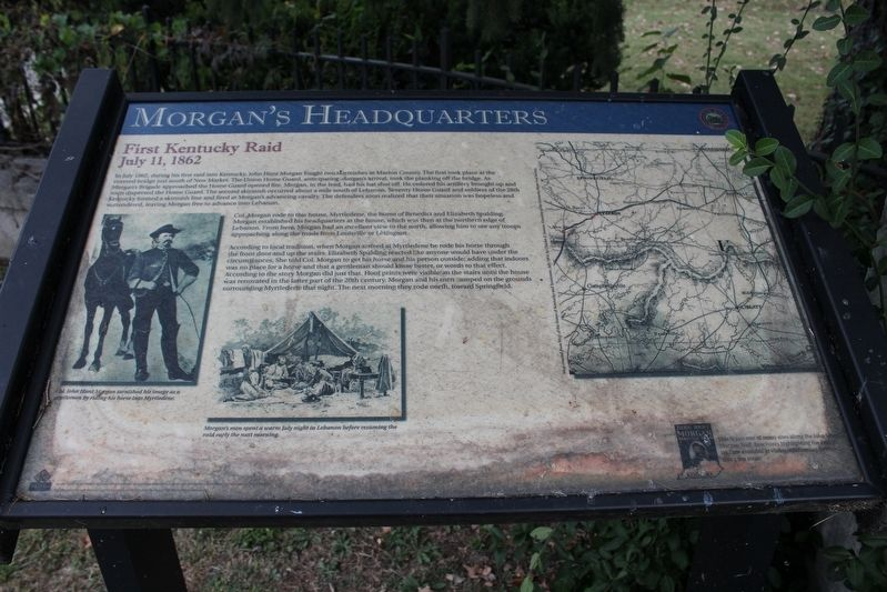 Morgan's Headquarters Marker image. Click for full size.
