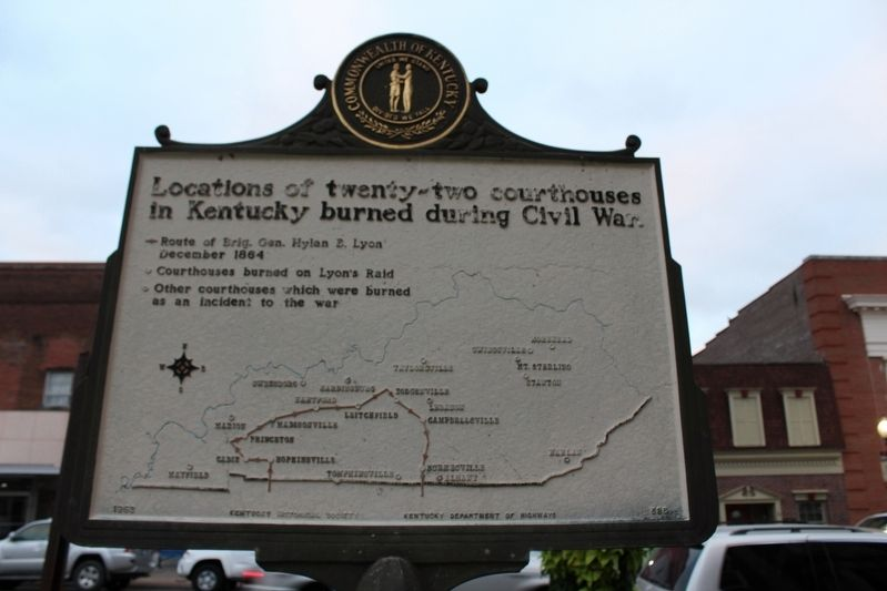 Courthouse Burned Marker (Reverse) image. Click for full size.