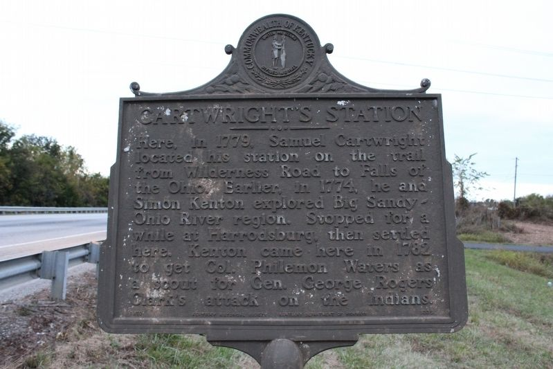 Cartwright's Station Marker image. Click for full size.