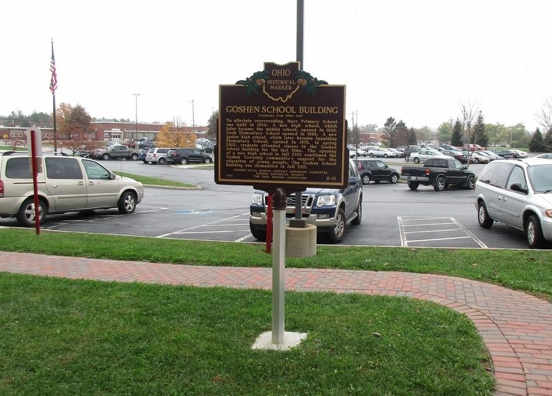 Goshen School Building Marker image. Click for full size.