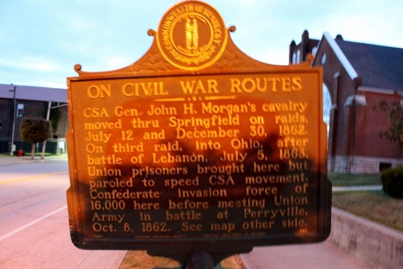 On Civil War Routes Marker image. Click for full size.