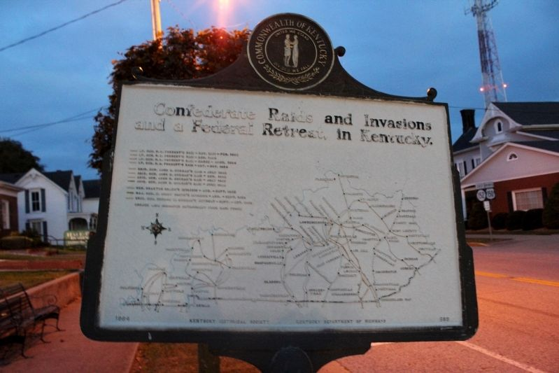 On Civil War Routes Marker (Reverse) image. Click for full size.