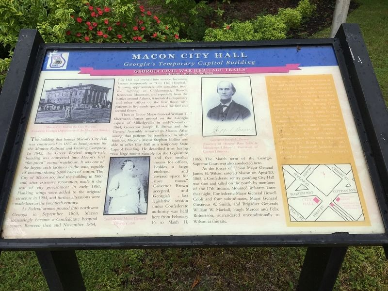 Macon City Hall Marker image. Click for full size.