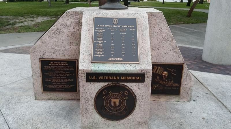 The United States Veterans Memorial Marker image. Click for full size.