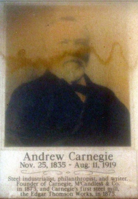 Andrew Carnegie<br>Nov. 25, 1835 - Aug. 11 1919 image. Click for full size.