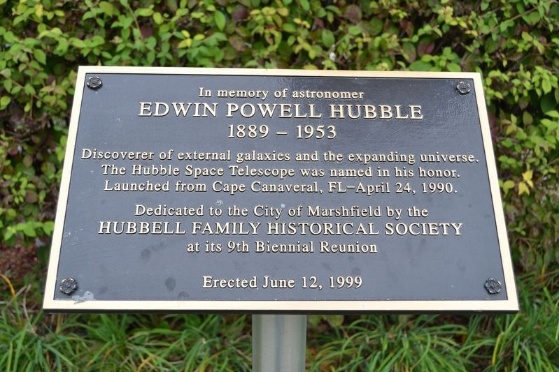Hubbell Family Historical Society Memorial image. Click for full size.