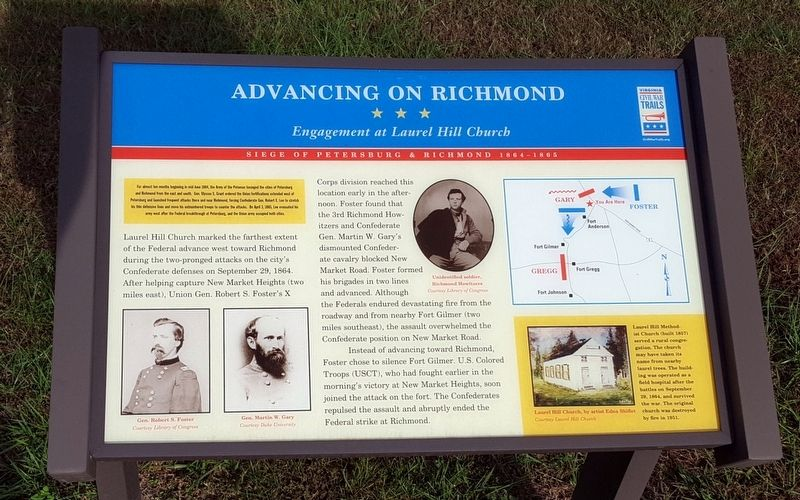Advancing On Richmond Marker image. Click for full size.