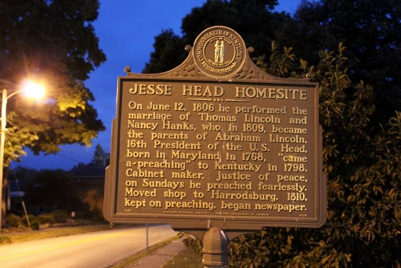 Jesse Head Homesite Marker image. Click for full size.