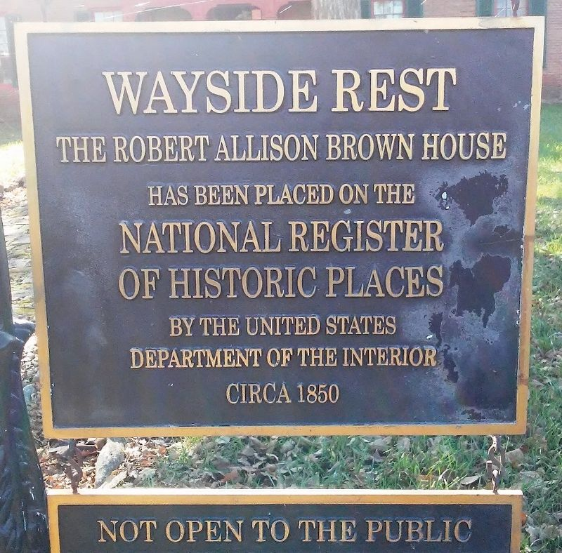 Wayside Rest NRHP Marker image. Click for full size.