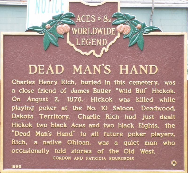 Dead Man's Hand Marker image. Click for full size.