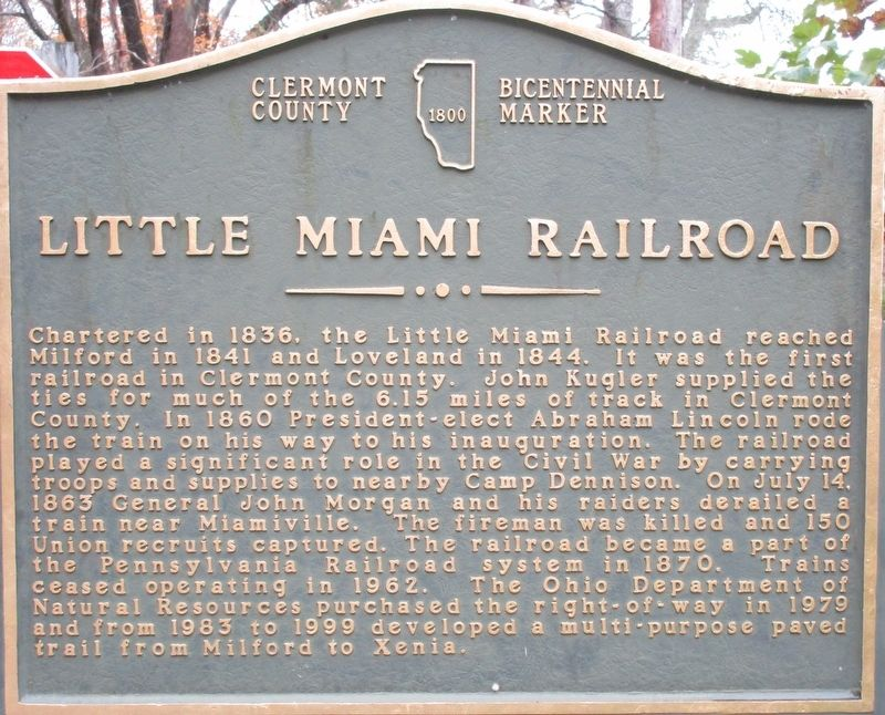 Little Miami Railroad Marker image. Click for full size.