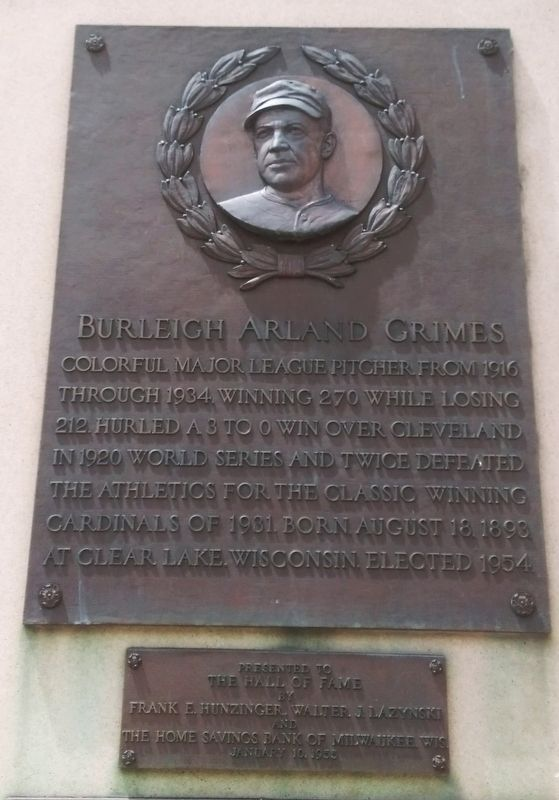 Burleigh Arland Grimes Marker image. Click for full size.