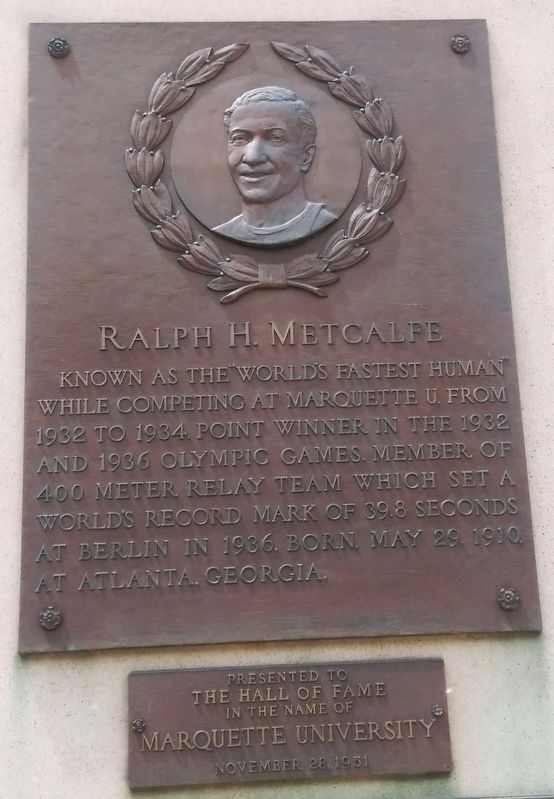 Ralph H. Metcalfe Marker image. Click for full size.