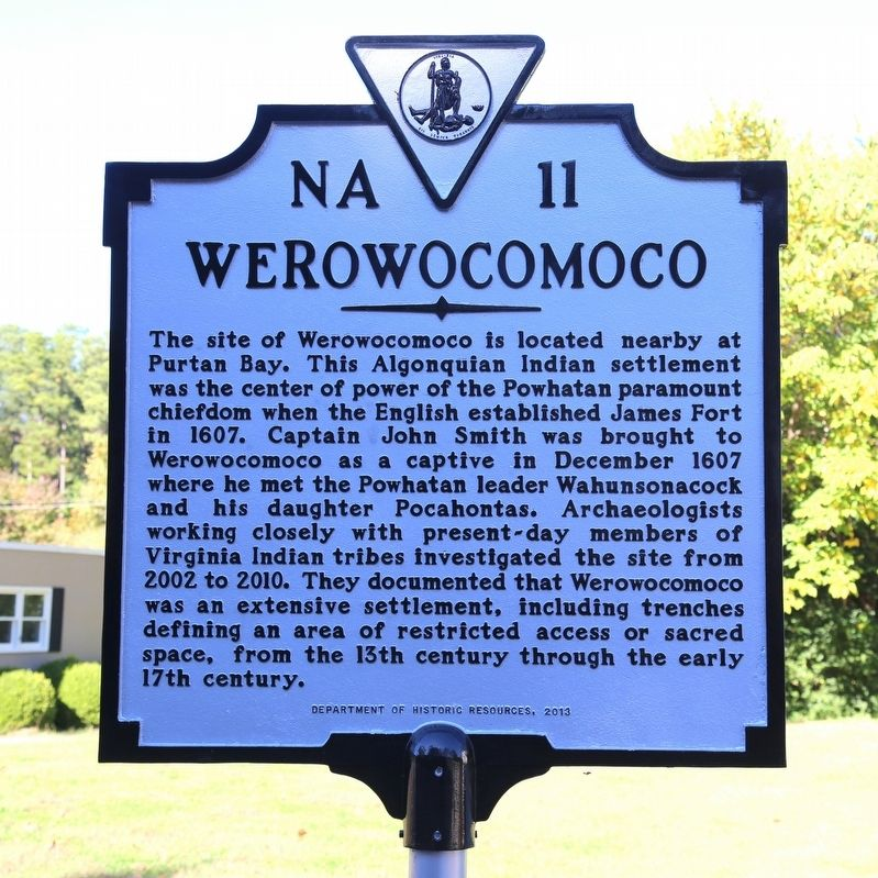 Werowocomoco Marker image. Click for full size.