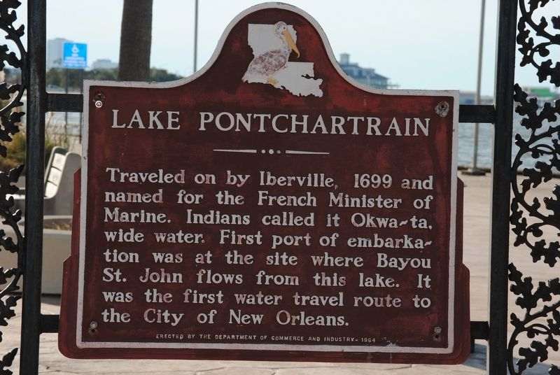 Lake Pontchartrain Marker image. Click for full size.
