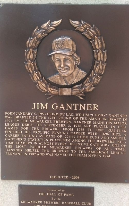 Jim Gantner Marker image. Click for full size.