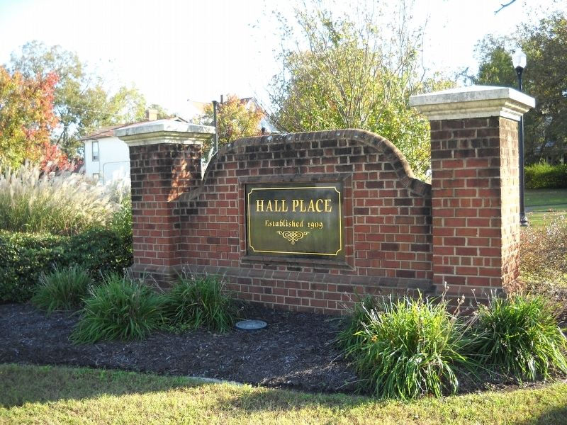 The Hall Place neighborhood was established in 1909. image. Click for full size.