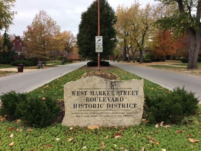 West Market Street Boulevard Historic District Marker image. Click for full size.