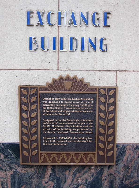 Exchange Building Marker image. Click for full size.