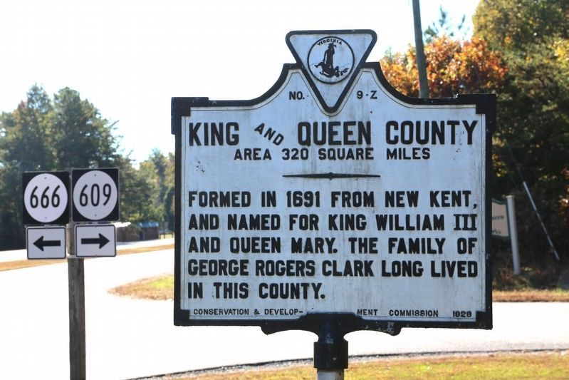 King and Queen County Face of Marker image. Click for full size.
