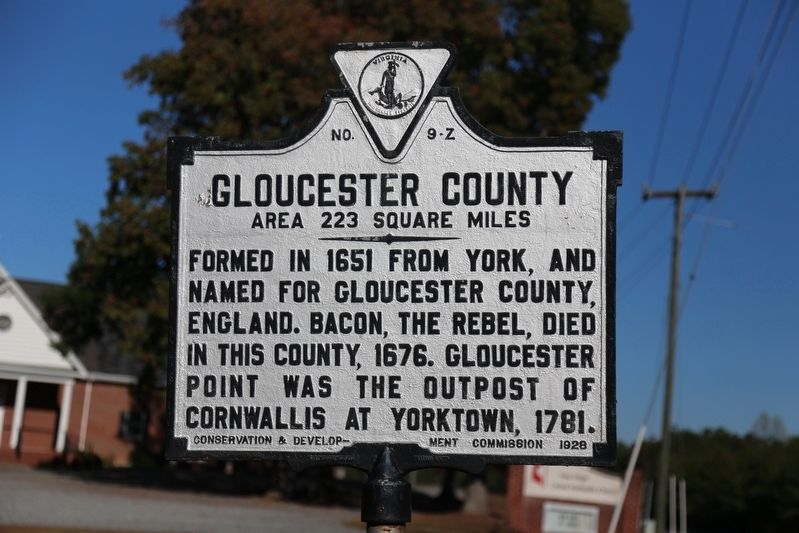 Gloucester County Face of Marker image. Click for full size.